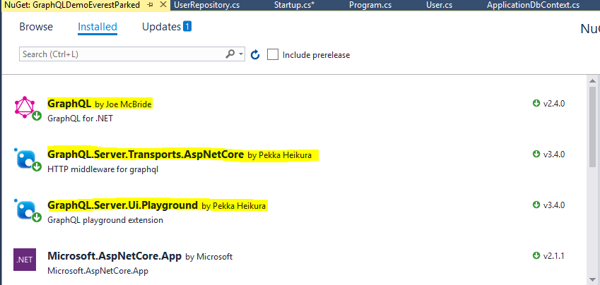 Installed Nuget Package